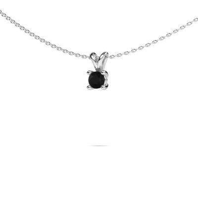 Foto van Ketting Sam round 950 platina zwarte diamant 0.36 crt