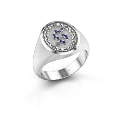 Men's ring Ruan 925 silver sapphire 1 mm