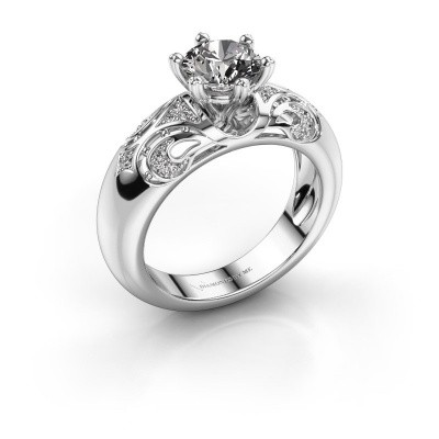 Foto van Ring Maya 585 witgoud diamant 1.105 crt
