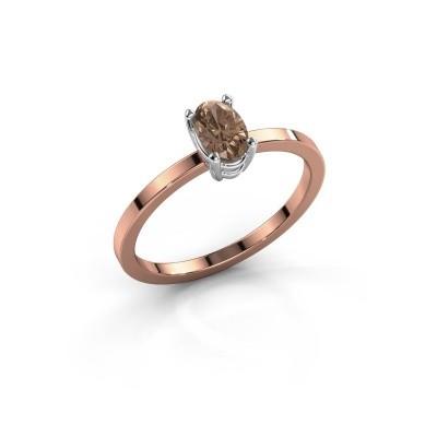 Foto van Ring Lynelle 1 585 rosé goud bruine diamant 0.50 crt