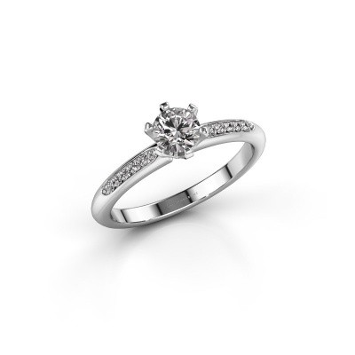 Image of Engagement ring Tiffy 2 585 white gold diamond 0.40 crt