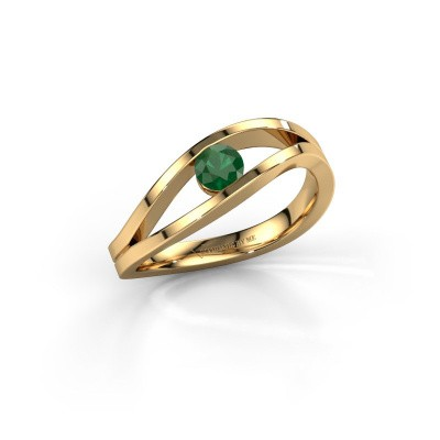 Foto van Ring Sigrid 1 585 goud smaragd 4 mm