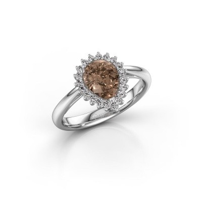 Foto van Verlovingsring Chere 1 950 platina bruine diamant 0.95 crt
