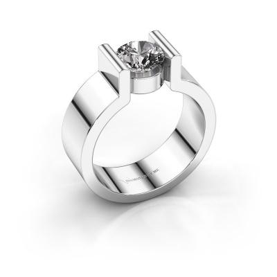 Verlovingsring Isabel 1 585 witgoud diamant 1.00 crt