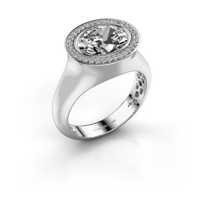 Ring Phebe 925 silver zirconia 10x8 mm
