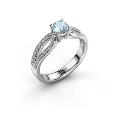 Verlobungsring Antonia 2 925 Silber Aquamarin 5 mm