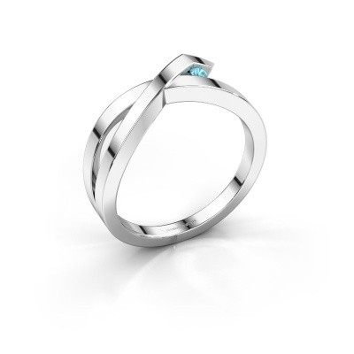 Ring Alyssa 585 white gold blue topaz 2 mm