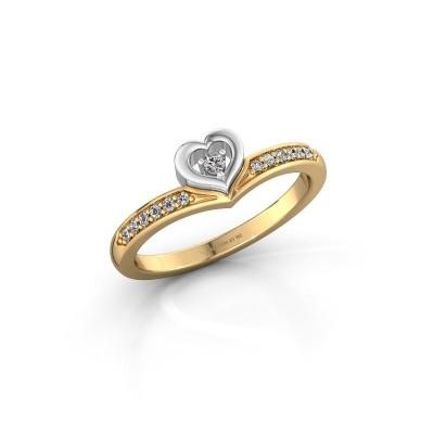Ring Mimi 585 gold lab grown diamond 0.118 crt