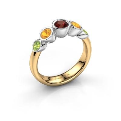 Ring Lizz 585 goud granaat 4 mm