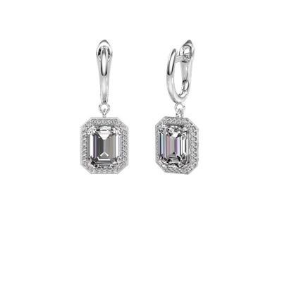Drop earrings Dodie 1 585 white gold diamond 2.50 crt