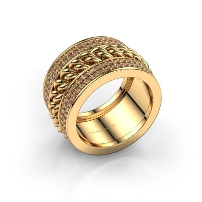 Foto van Ring Jayda 375 goud bruine diamant 1.50 crt