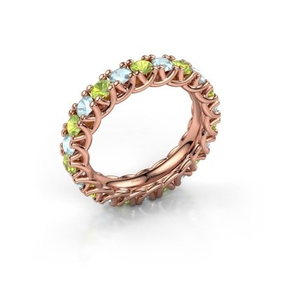 Picture of Ring Fenna 375 rose gold peridot 3 mm