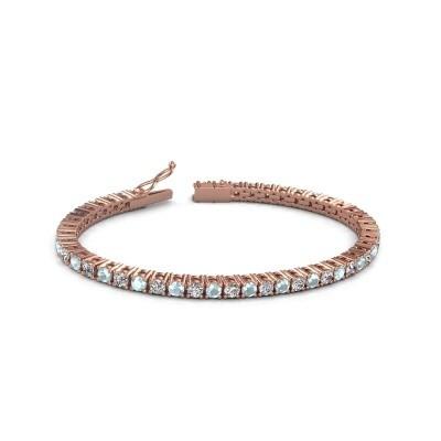 Tennisarmband Jenny 375 rosé goud lab-grown diamant 4.32 crt