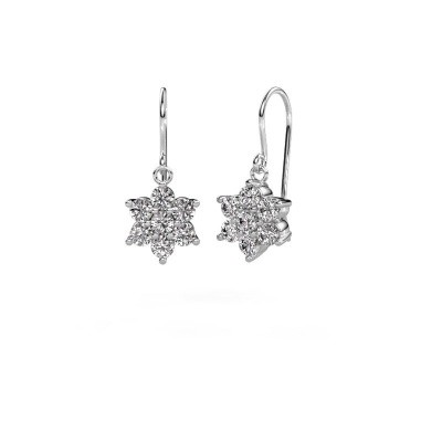 Foto van Oorhangers Dahlia 1 585 witgoud diamant 1.40 crt