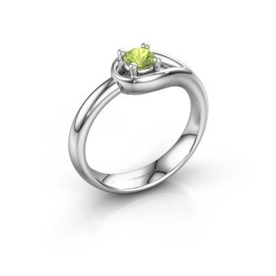 Ring Fabienne 925 silver peridot 4 mm