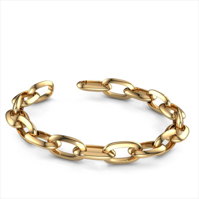 Picture of Candy bracelet Oval link 1 12.0 585 gold
