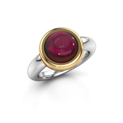 Ring Jenae 585 white gold garnet 10 mm