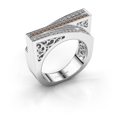 Ring Magda 585 white gold brown diamond 0.338 crt