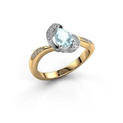 Foto van Ring Jonelle 585 goud aquamarijn 7x5 mm