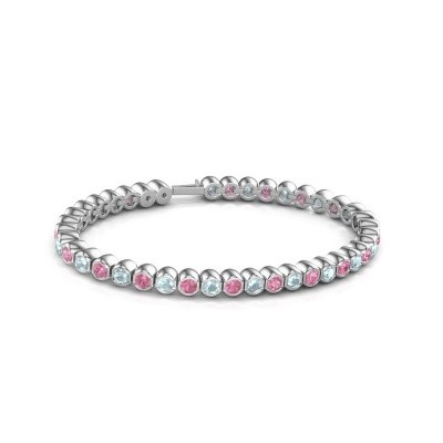 Foto van Tennisarmband Mellisa 585 witgoud roze saffier 3.5 mm
