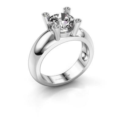 Bague Tamara RND 925 argent diamant synthétique 2.00 crt