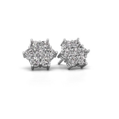 Photo de Clous d'oreilles Bonita 585 or blanc diamant 1.40 crt
