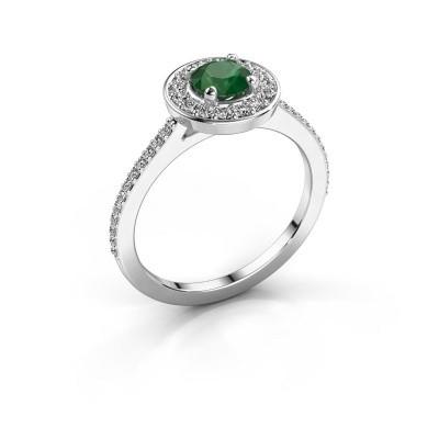 Foto van Ring Agaat 2 950 platina smaragd 5 mm