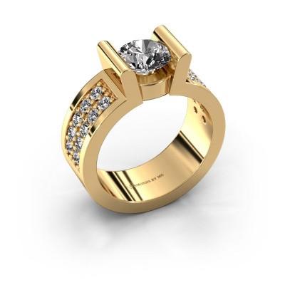 Verlovingsring Sofie 3 375 goud diamant 1.00 crt