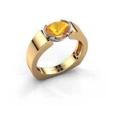 Ring Tonya 585 goud citrien 8x6 mm