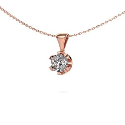 Foto van Ketting Fran 375 rosé goud diamant 1.00 crt