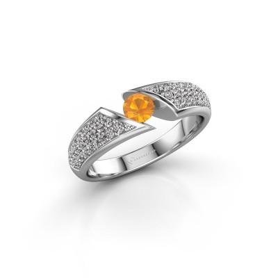 Foto van Ring Hojalien 3 925 zilver citrien 4 mm