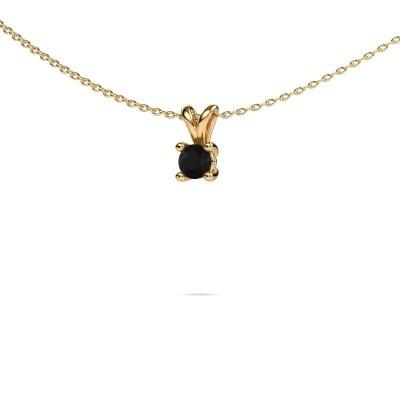 Foto van Ketting Sam round 375 goud zwarte diamant 0.36 crt