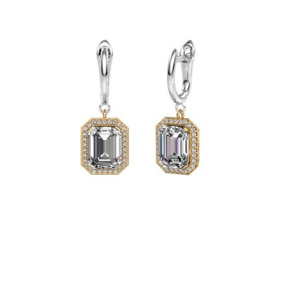 Drop earrings Dodie 1 585 gold diamond 2.50 crt
