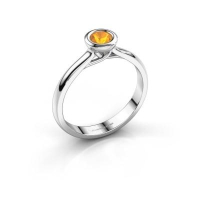 Foto van Verlovings ring Kaylee 925 zilver citrien 4 mm