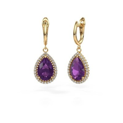 Picture of Drop earrings Hana 1 585 gold amethyst 12x8 mm