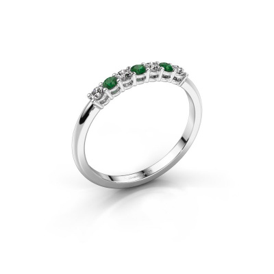 Engagement ring Michelle 7 585 white gold emerald 2 mm