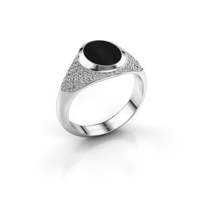 Signet ring Susana 950 platinum onyx 10x8 mm