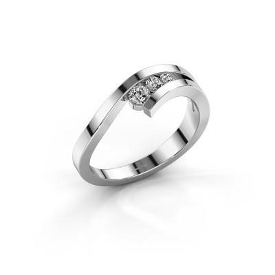 Ring Evalyn 2 925 zilver zirkonia 2.8 mm