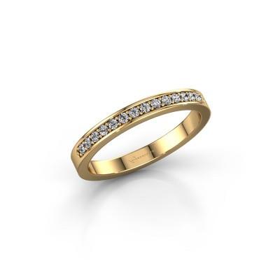 Foto van Aanschuifring SRJ0005B20H6 375 goud diamant 0.168 crt