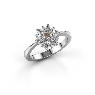 Verlovingsring Vickey 1 950 platina bruine diamant 0.025 crt