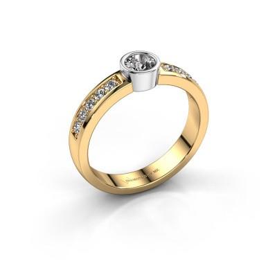 Aanzoeksring Ise 2 585 goud diamant 0.50 crt