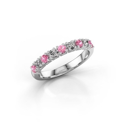 Engagement ring Rianne 9 925 silver pink sapphire 2.4 mm