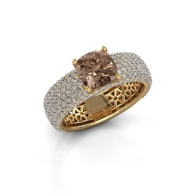 Engagement ring Darcy 375 gold brown diamond 3.37 crt