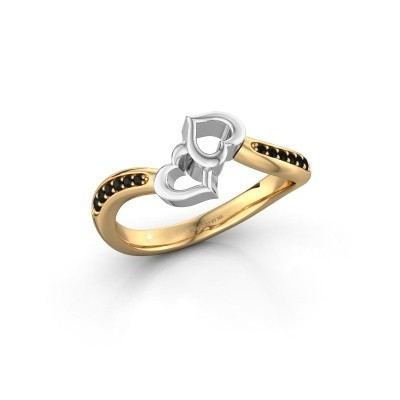 Ring Xaviera 585 goud zwarte diamant 0.135 crt
