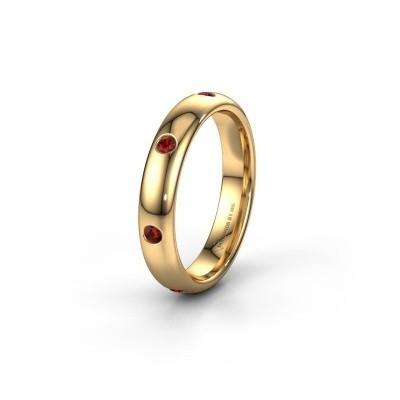 Ehering WH0105L34BP 375 Gold Granat ±4x2 mm