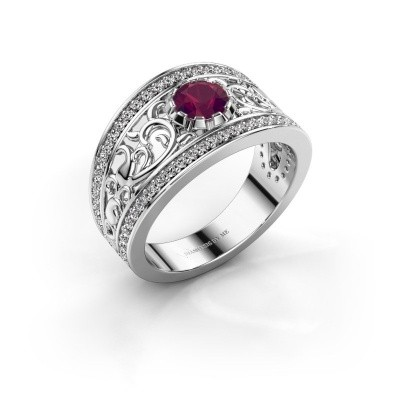 Picture of Ring Marilee 925 silver rhodolite 5 mm