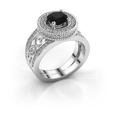 Ring Joy 950 platina zwarte diamant 1.796 crt