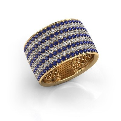 Foto van Ring Macy 375 goud saffier 1.4 mm