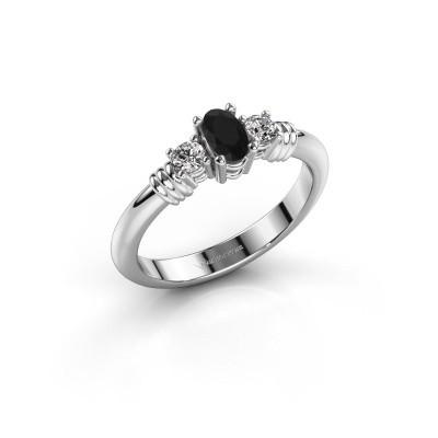 Foto van Promise ring Pippa 585 witgoud zwarte diamant 0.58 crt