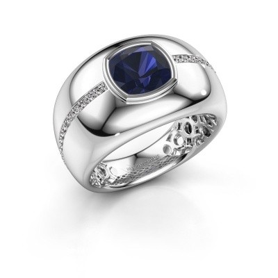 Picture of Ring Sydney 585 white gold sapphire 7.5 mm